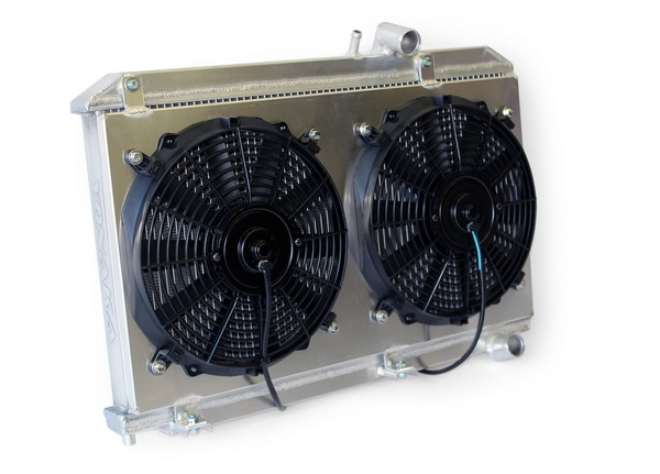 mazda rx  performance radiator  fans shroud