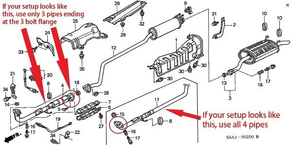 Middle Resonator /& Muffler Exhaust System 2001-2004 Honda Civic GX 1.7L