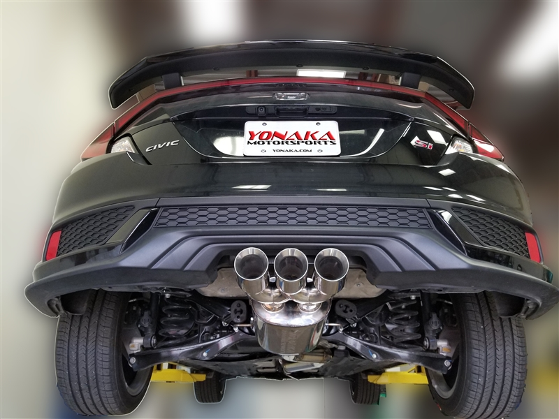 Yonaka Performance 3 Stainless Steel Catback Exhaust for 2017-2019 Honda Civic Si 2DR Coupe only