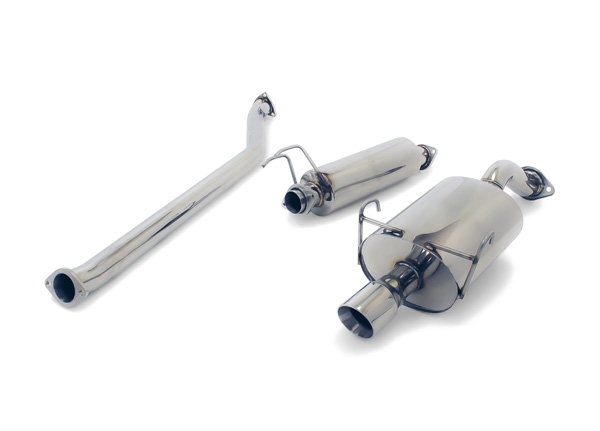 """Yonaka T304 Polished Stainless Steel 2.5/"""" High Flow Exhaust Performance Muffler"""